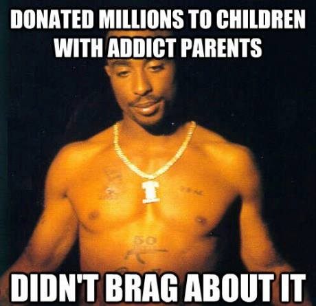 Tupac Shakur Donated Millions To Children With Addict