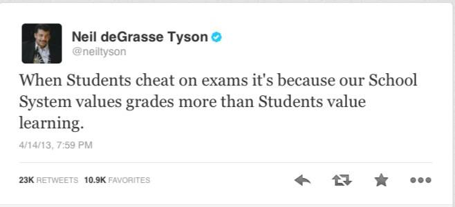 Why students cheat on exams?