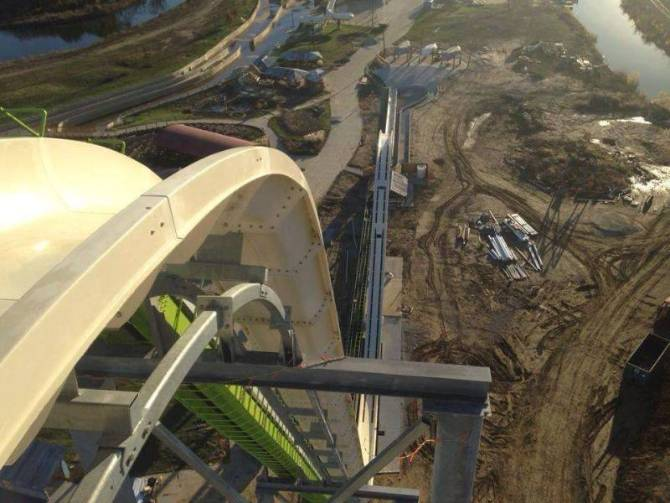 World's tallest waterslide under construction.