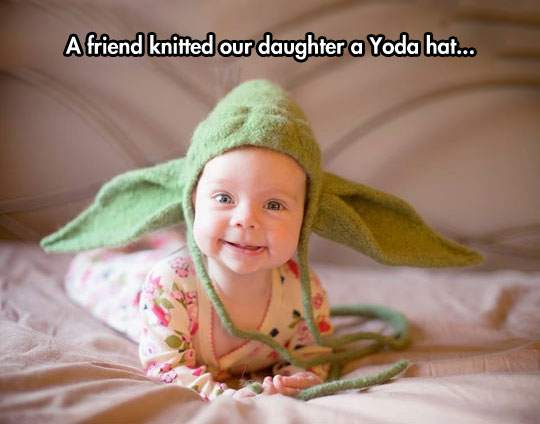 Yoda hat for baby