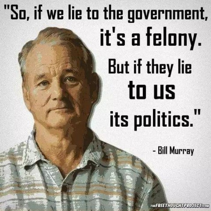 Bill Murray - If we lie to the government...