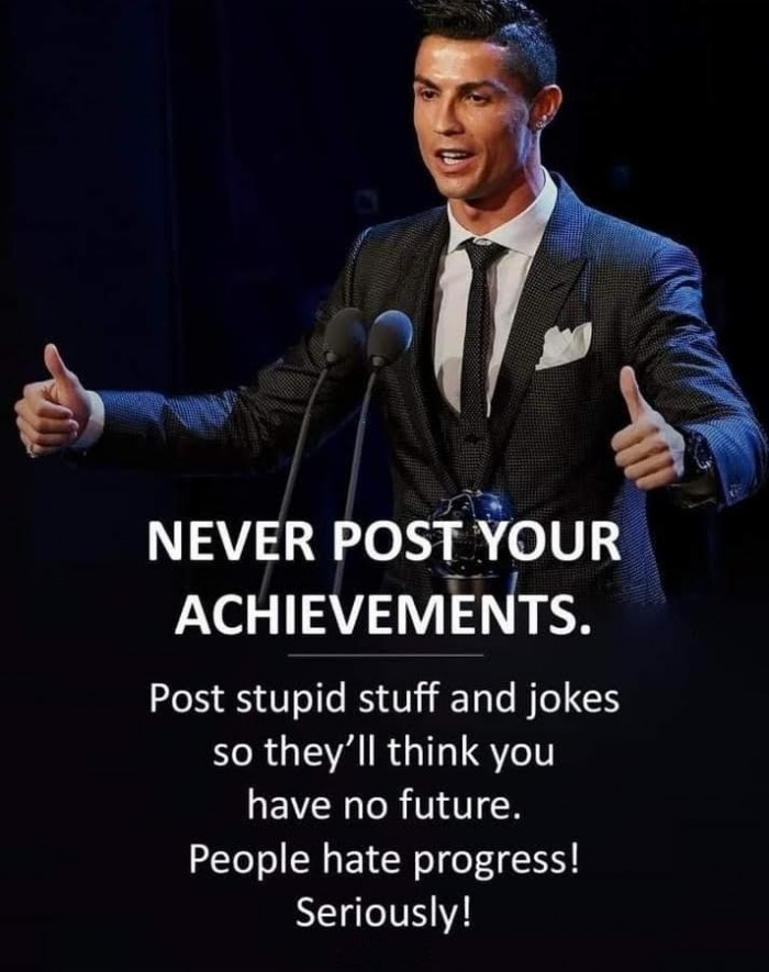 Never Post Your Achievements