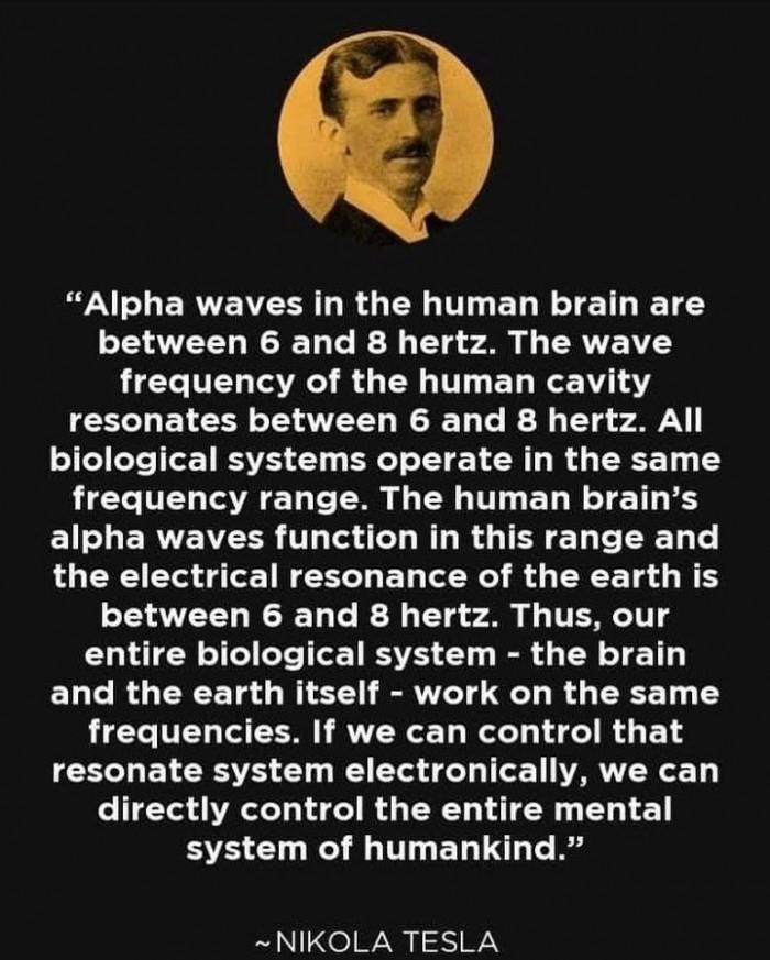 Nikola Tesla Alpha Waves
