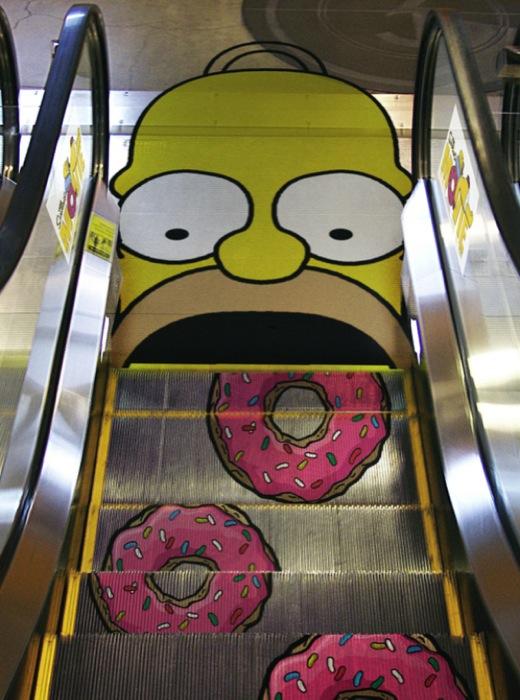 Donuts\' escalator