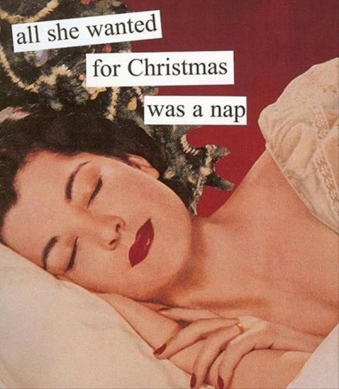 All she wanted for Christmas was nap