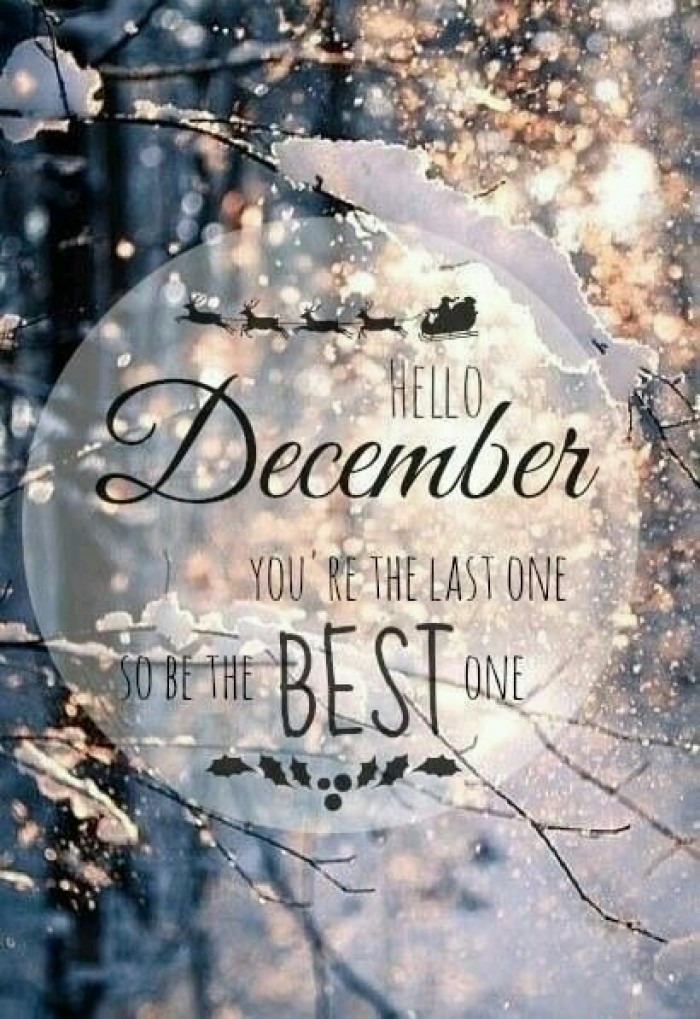 Hello December.  You're the last one...