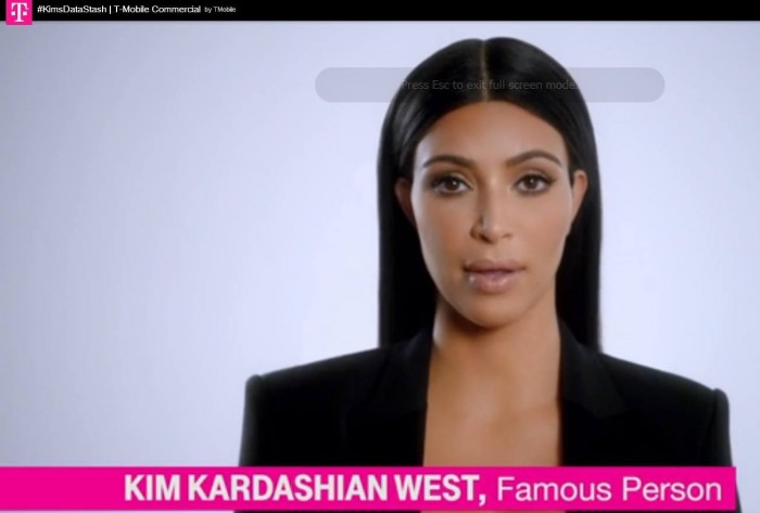 Not even T-Mobile knows what Kim Kardashian does for a living.