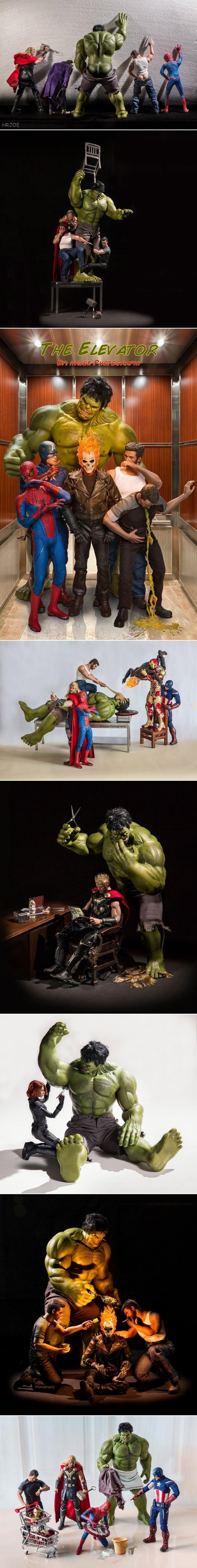 Marvel superheroes in not-so-super situations