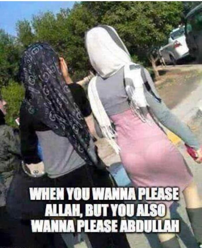 When you wanna please Allah...