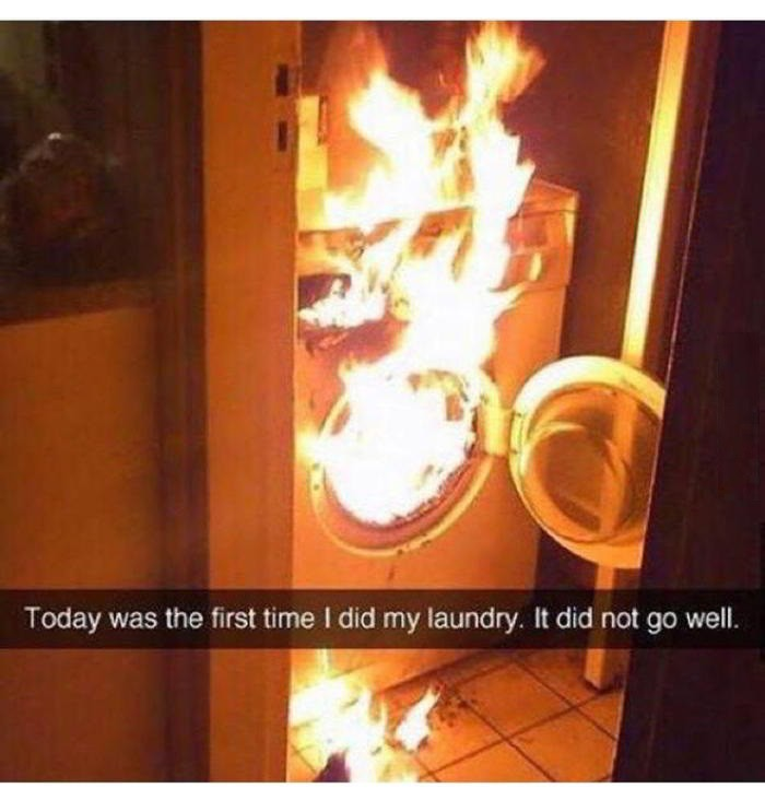 Today was the first time I did laundry...