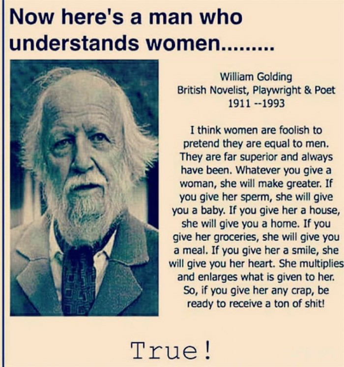 Here's a man who understands women...