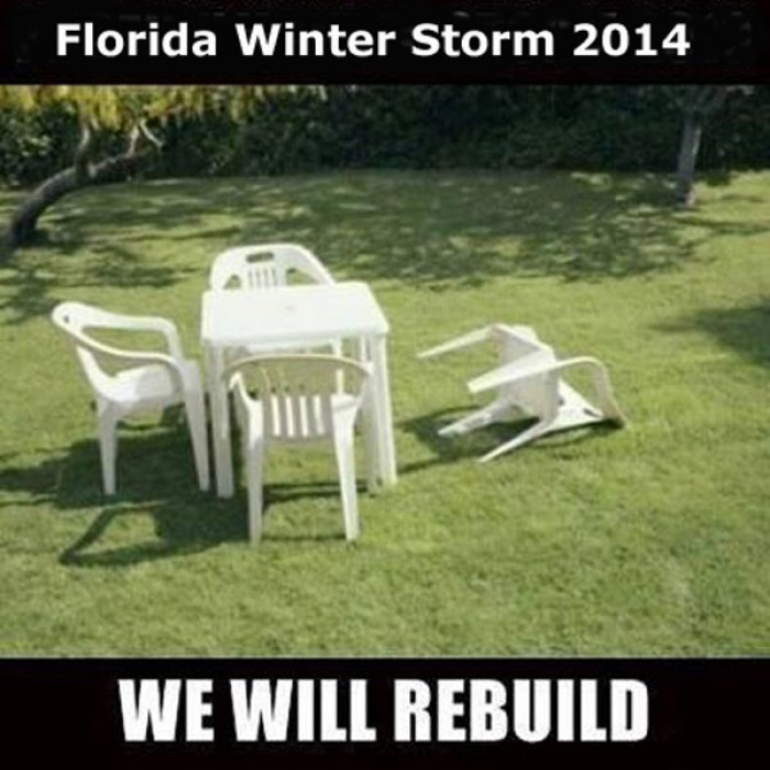 Devastating winter storm in Florida