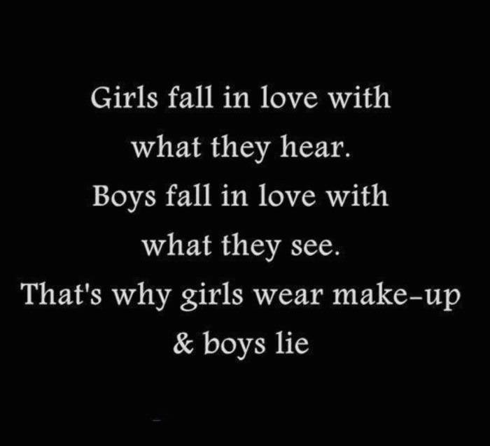 Girls fall in love with what they hear...