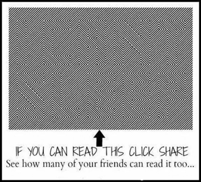 If You Can Read This Click Share.