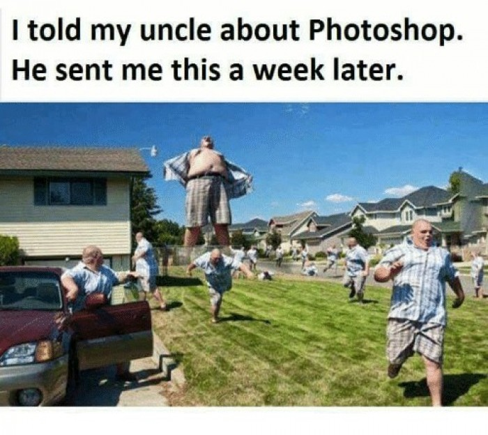 I Told My Uncle About Photoshop