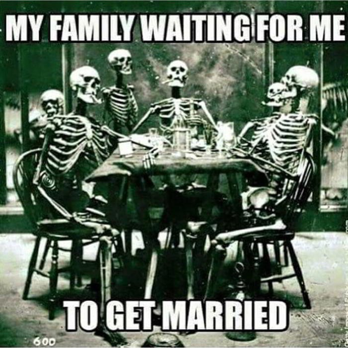 My family waiting for me to get married