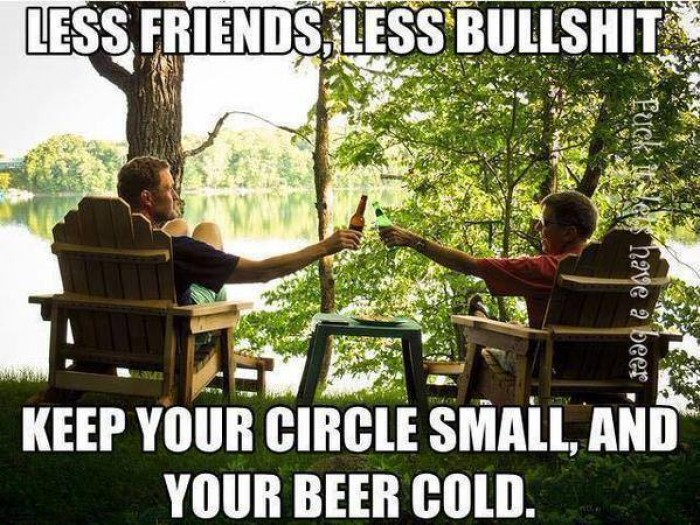 Less Friends, Less bulshit..