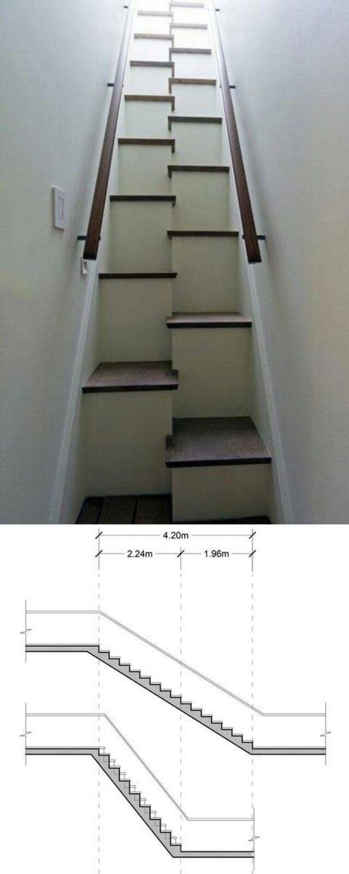 There is a reason to build stairs like this.