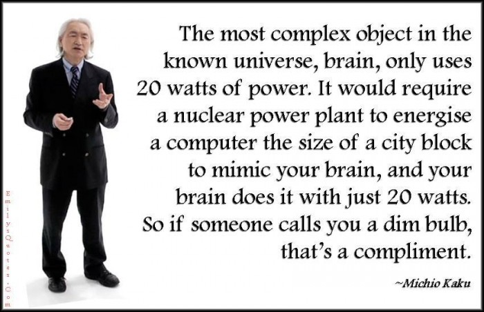 Michio Kaku - Brain only uses 20 watts...