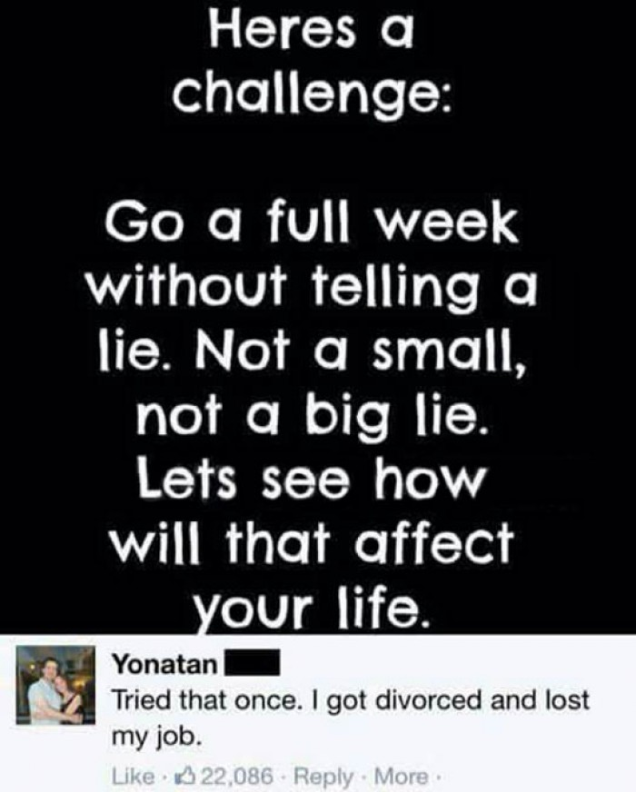 A challenge that's not for everyone