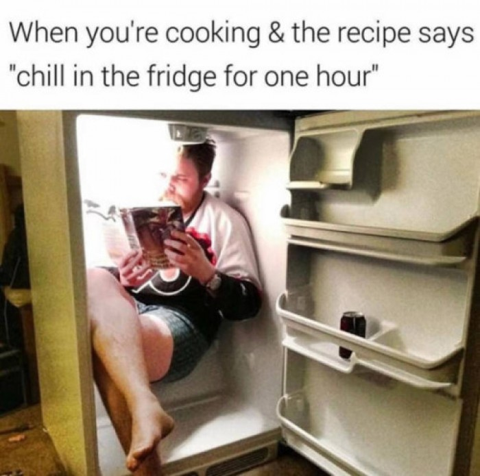 Chill in the fridge for one hour...