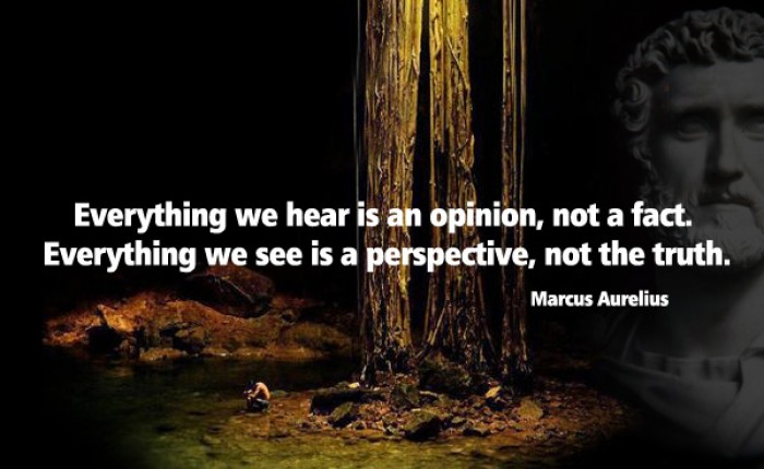 Marcus Aurelius - Everything we hear is an opinion, not a fact...