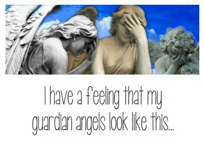 I have a feeling that my guardian angels look like this.