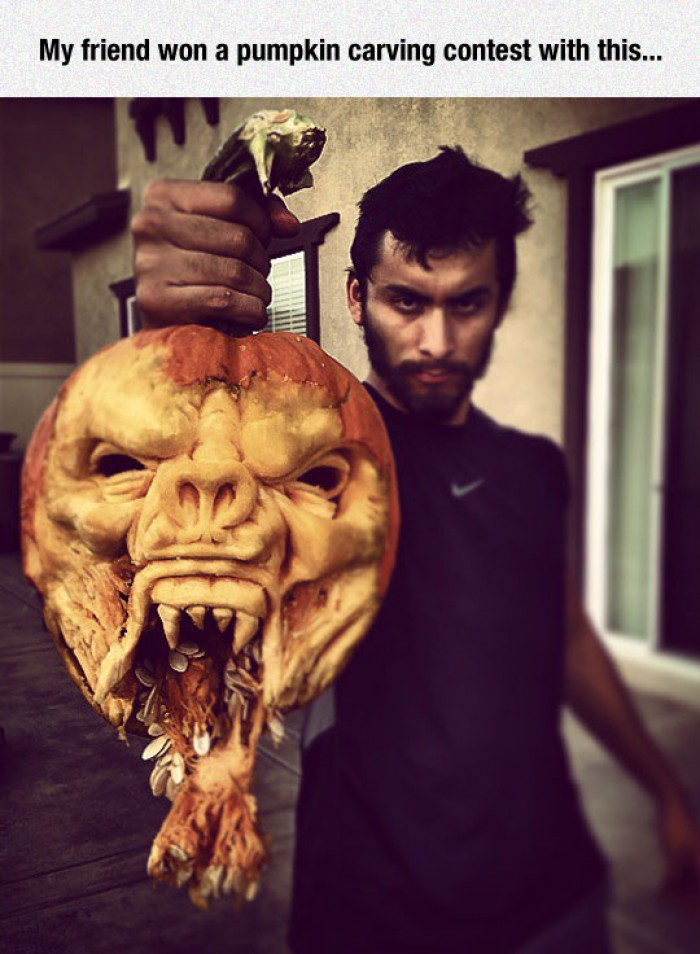 Carving Master Won a Pumpkin Carving Contest
