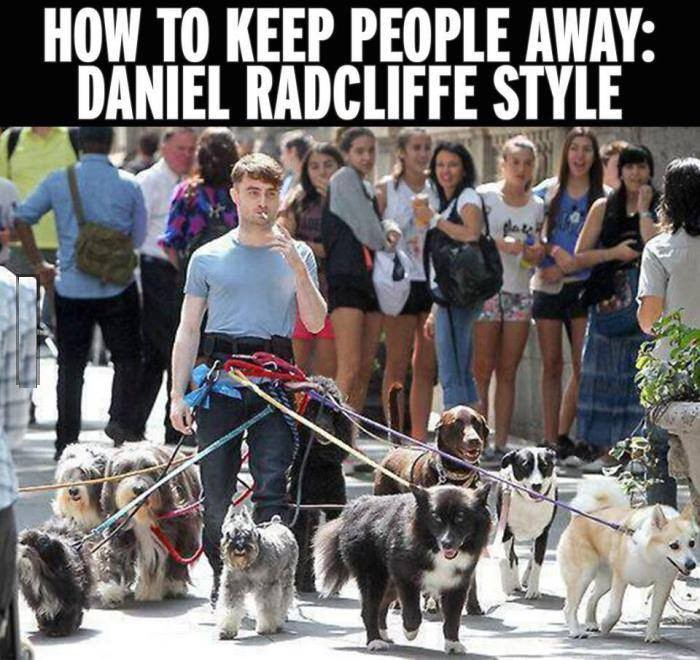 How to keep people away Daniel Radcliffe style