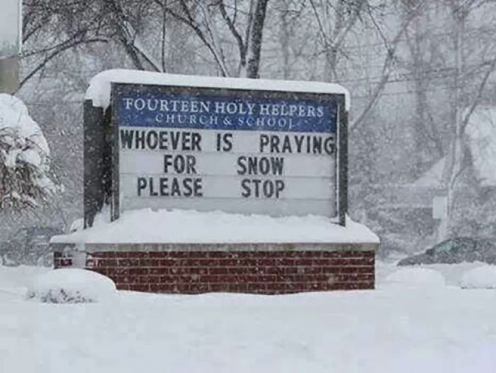 Whoever is praying for snow snow please stop