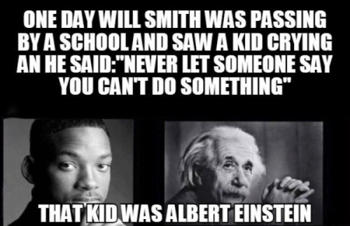 When Albert Einstein meets Will Smith