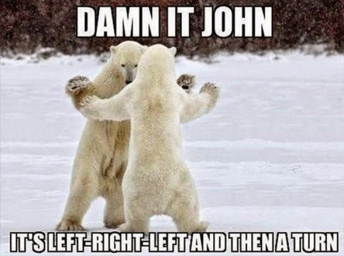 Damn it John - It's left, right, left and then a turn