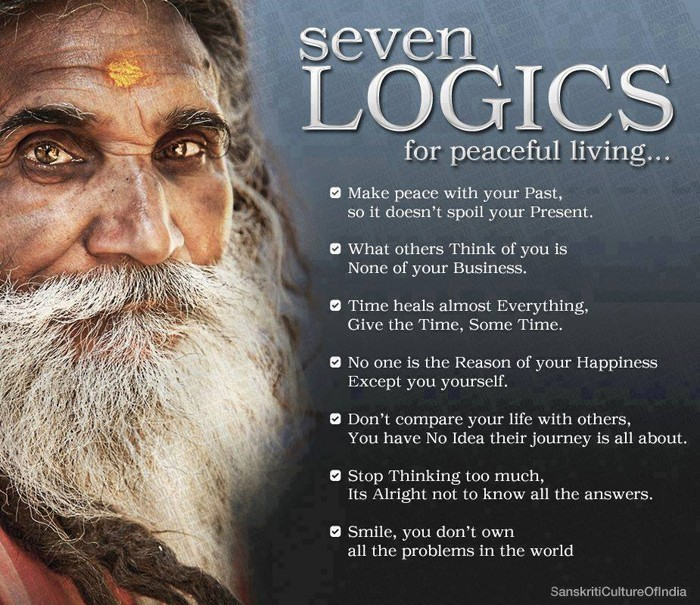 7 Logics for Peaceful Living...