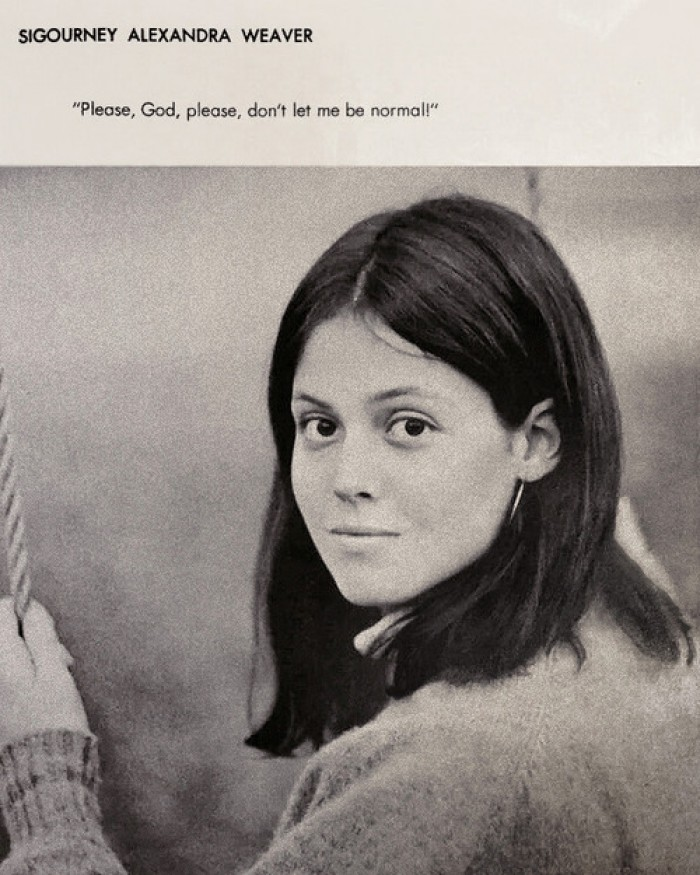 Sigourney Alexandra Weaver yearbook picture