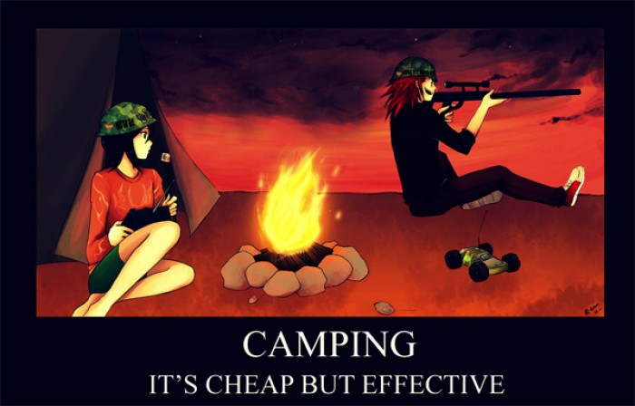 Camping is cheap but effective.