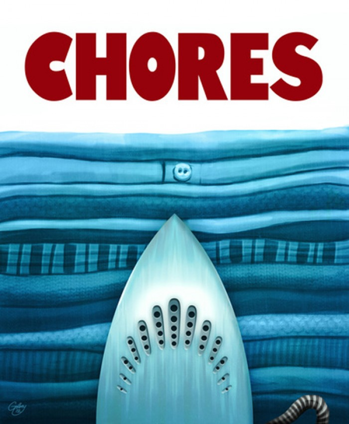 Chores Art Print by Sam Gilbey