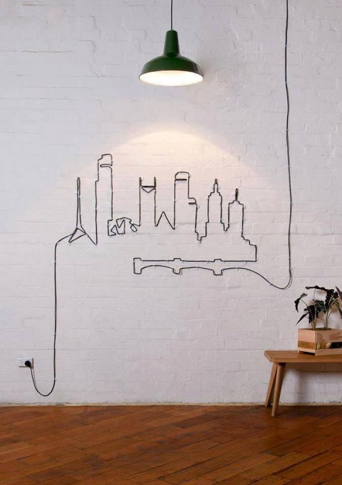 DIY creative cable arrange