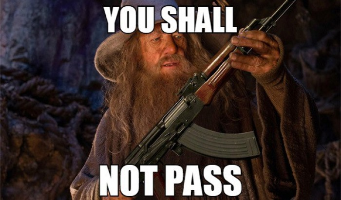 Gandalf the Red - Would an AK-47 have helped in The Lord of The Rings
