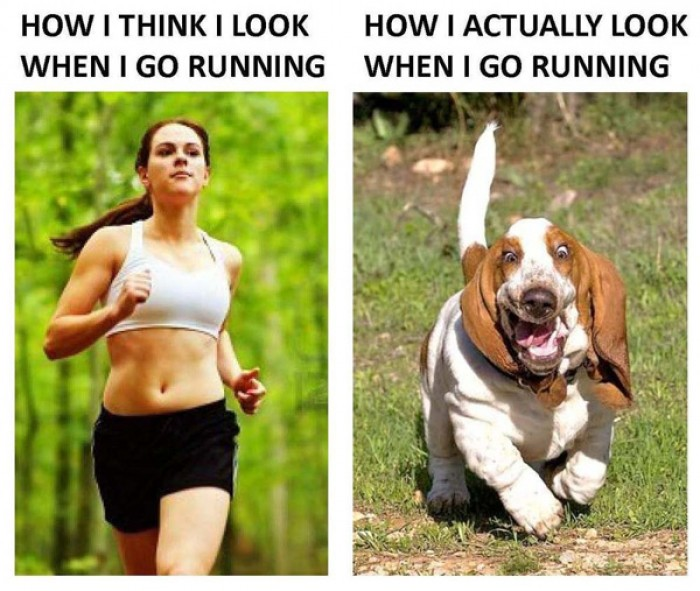 How I think I look when I go running