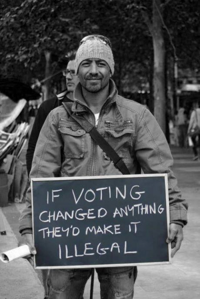 Emma Goldman - If voting changed anything, they'd make it illegal.