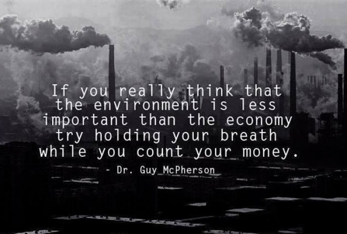 Dr. Guy McPherson - If you really think that the environment is less important...
