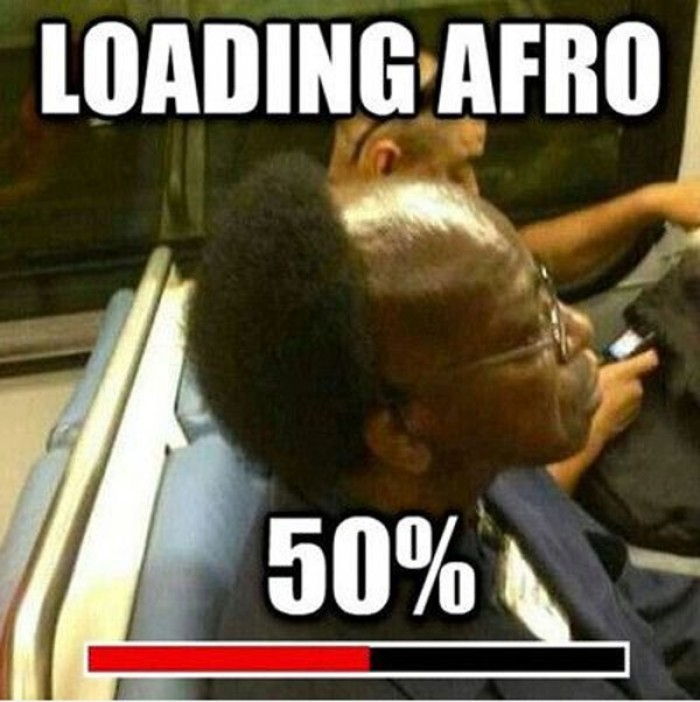 Loading afro 50 percent