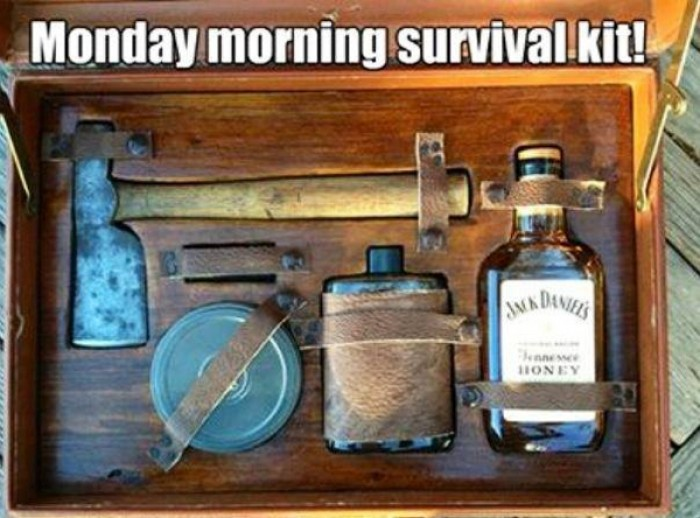 Monday morning survival kit.