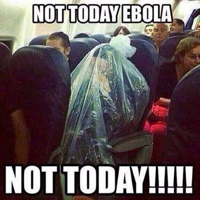 No way Ebola is getting me now.