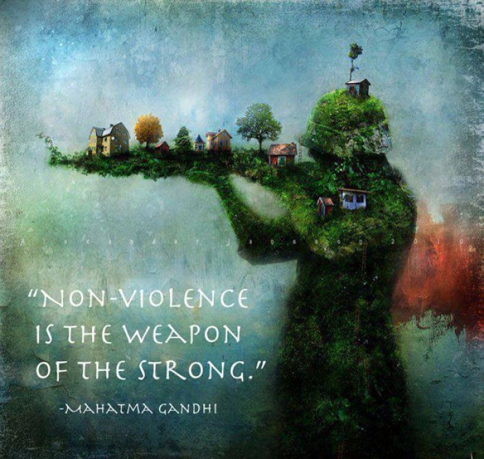 Mahatma Gandhi - Nonviolence is a weapon of the strong.