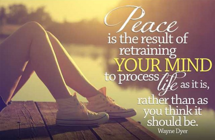 Wayne W. Dyer - Peace is the result of retraining your mind...