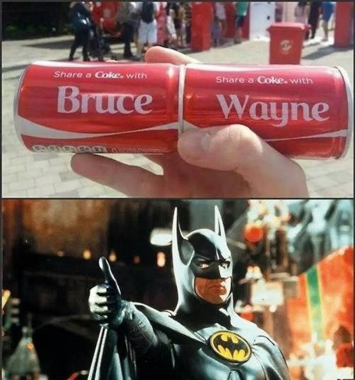 Share a Coke with Bruce Wayne, Batman
