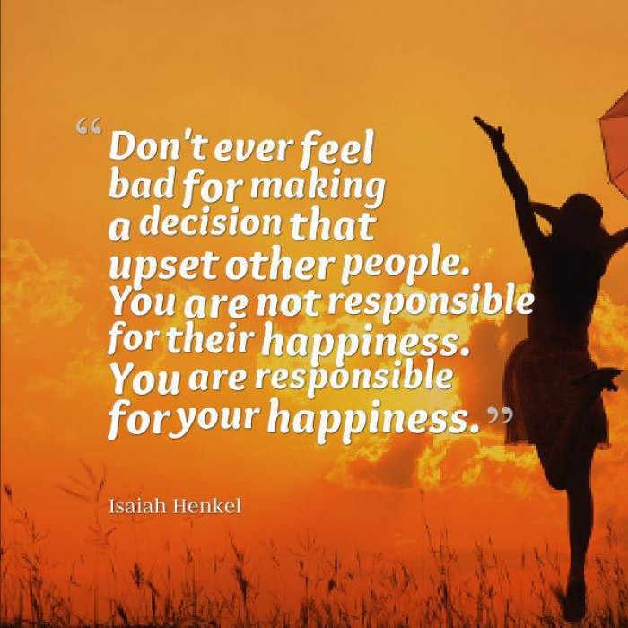 Isaiah Henkel - Don't ever feel bad for making decisions that...