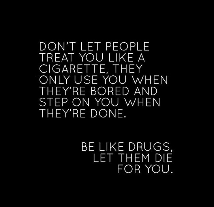 Don't let people treat you like a...
