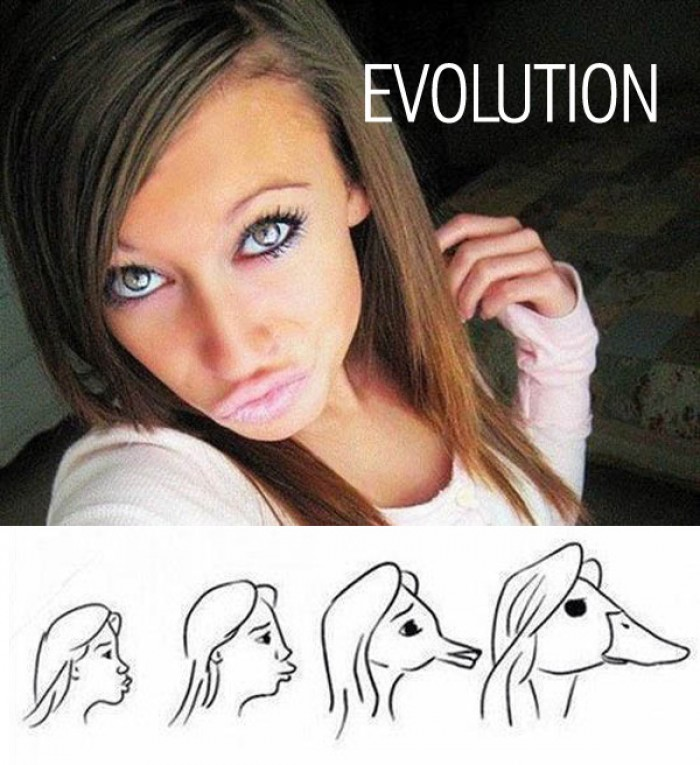 Evolution of duck face!